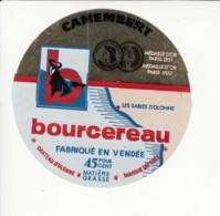 Etiquette De Fromage Camembert - Bourcereau - Cheese