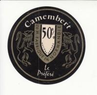 Etiquette De Fromage Camembert - Le Préféré - Seine Maritime. - Cheese