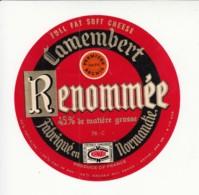 Etiquette De Fromage Camembert - Renommée - Seine Maritime. - Cheese