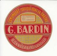 Etiquette De Fromage Camembert - Bardin - Bonnétable - Sarthe. - Cheese