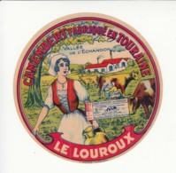 Etiquette De Fromage Camembert - Le Louroux - Vallée De L'Echandon. - Cheese