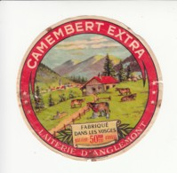 Etiquette De Fromage Camembert - Anglemont - Vosges. - Cheese