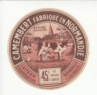 Etiquette De Fromage Camembert - Barbeville - Calvados. - Cheese