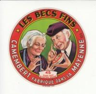 Etiquette De Fromage Camembert - Les Becs Fins - Mayenne. - Cheese