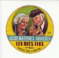 Etiquette De Fromage - Les Becs Fins - Mayenne. - Fromage
