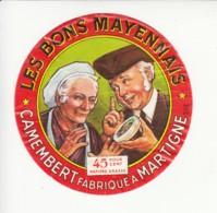 Etiquette De Fromage Camembert - Les Bons Mayennais - Martigné - Mayenne. - Cheese