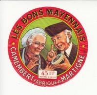 Etiquette De Fromage Camembert - Les Bons Mayennais - Martigné - Mayenne. - Fromage