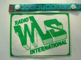 AUTOCOLLANT RADIO WLS INTERNATIONAL - Autocollants