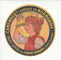 Etiquette De Fromage Camembert - La Laitière - Caen - Calvados. - Cheese