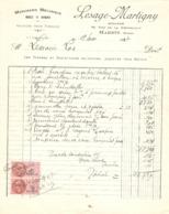 FACTURE 1937 LESAGE MARTIGNY 92 Rue De La RÉPUBLIQUE MARETZ NORD - MENUISERIE MÉCANIQUE MEUBLE BATIMENT - Frankreich