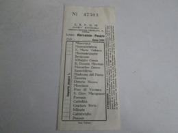 SAPUM Linea MERCATALE-PESARO Biglietto Del 1951 - Autobus