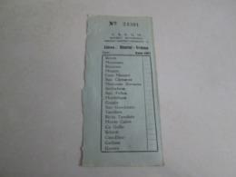 SAPUM Linea RIMINI-URBINO Biglietto Del 1951 - Autobus