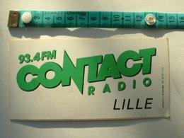 AUTOCOLLANT RADIO CONTACT 93.4 FM LILLE - Autocollants