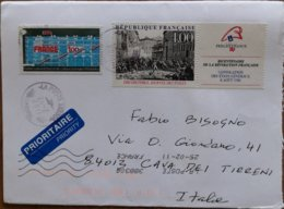 2011 France - Philefrance 4.00 Pompidou 1.00 -  Used Stamps On Cover To Italy - Marcofilie (Brieven)
