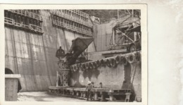 Rare Photo Construction D'un Barrage   Format 9 X 13 Cm - Other