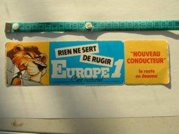 AUTOCOLLANT RADIO EUROPE 1 - RIEN NE SERT DE RUGIR - Aufkleber