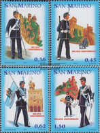 San Marino 2198-2201 (complete Issue) Unmounted Mint / Never Hinged 2005 Military Uniforms - San Marino