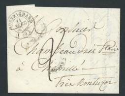 """Lac Pour Chemillé Près Montrésor Oblitéré Cad Montrichard Sept 1848 ( Au Dos Cad """" Ligne De Tours """" Raa3510 - Marcofilia (sobres)"""