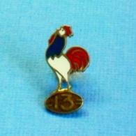 1 PIN'S //  ** RUGBY 13 / COQ SPORTIF TRICOLORE ** . (FRAISSE DEMEY PARIS) à VIS - Rugby