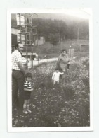 Man,Woman And Children On The Lawn A389-253 - Personnes Anonymes
