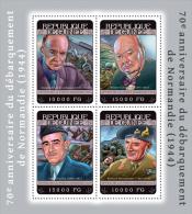 GUINEA 2014 - W. Churchill, Normandy - YT 7242-5; CV=25 € - Sir Winston Churchill