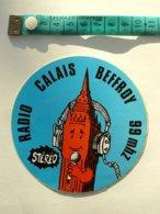AUTOCOLLANT RADIO CALAIS BEFFROY - Autocollants