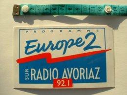 AUTOCOLLANT RADIO EUROPE 2 RADIO AVORIAZ - Autocollants
