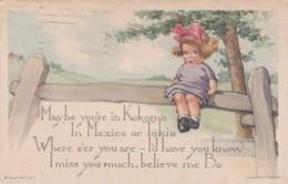 CPA 1923 -  ILLUSTRATEUR TWELVETREES- Enfant  Assise Sur Une Clôture - (lot Pat 83) - Künstlerkarten