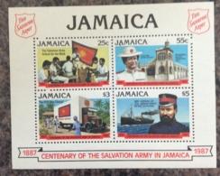 Jamaica 1987 Salvation Army Centenary Mini Sheet MNH - Jamaica (1962-...)