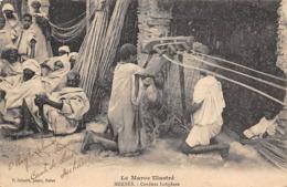 Thème  Métiers . Tapisserie.Tannerie. Soie  Maroc  Meknès.  Cordiers Indigènes         (voir Scan) - Artisanat