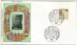 ALEMANIA BONN FDC ARQUITECTURA - Monumentos