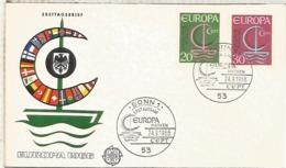 ALEMANIA BONN FDC EUROPA CEPT 1966 - Europa-CEPT