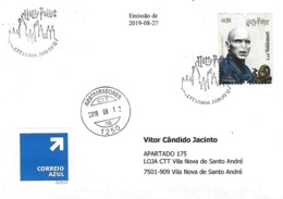 PORTUGAL - Harry Potter 2019 - Commemorative Postmark Above HPotter Stamps ~ Cover Real Circulated ~ - Postmark Collection