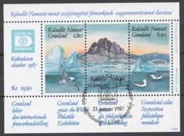 Greenland 1987 Mi# Bl.1 (CTO) HAFNIA '87 INTERNATIONAL STAMP EXHIBITION - Ongebruikt