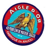 ETIQUETTE De FROMAGE.. Fabriqué En ANJOU ( Maine Et Loire 49).. AIGLE D'Or - Cheese