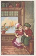 CPA - ILLUSTRATEUR A.BERTIGLIA -  Enfants Devant Une Fenêtre -(lot Pat 83) - Bertiglia, A.