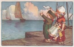 CPA - ILLUSTRATEUR A.BERTIGLIA -  Enfants -  Adieu Sur Le Port -(lot Pat 83) - Bertiglia, A.