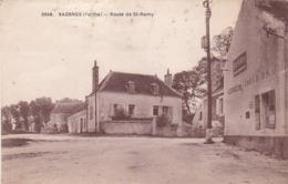72. SAOSNES. CPA . RARETE. ROUTE DE ST REMY. ANNEE 1943 + TEXTE - Other Municipalities
