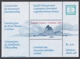 Greenland 1987 Mi# Bl.2** HAFNIA '87 INTERNATIONAL STAMP EXHIBITION - Ongebruikt
