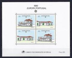 Portugal  Bloc 72 ** Europa 1990 Architecture Etablissements Postaux Post Offices - Europa-CEPT
