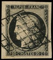 O FRANCE - Poste - 3, Grandes Marges, Signé Calves - 1849-1850 Cérès