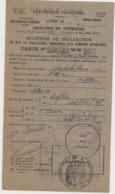 RECEPISSE DE DECLARATION / CARTE GRISE / CIRCULATION DES AUTOMOBILES 1927 / Hotchkiss AM2 - Automobil