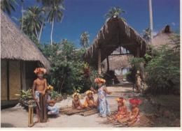 TAHITIE - Groupe D'Enfants Tahitiens  Du Tiki Village à Mooreo - Tahiti