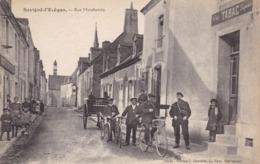 72. SAVIGNE L'EVEQUE. CPA. ANIMATION. RUE MARCHANDE - Other Municipalities