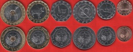 Mauritania Set Of 6 Coins: 1/5 - 20 Ouguiya 2017-2018 UNC - Mauritanie