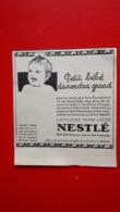 Pub Nestlé,petit Bébé Deviendra Grand - Reclame