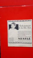 Pub Nestlé,de La Tendresse Et Du Bon Lait - Reclame