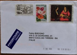 France - Used Stamps On Cover To Italy - Marcofilie (Brieven)