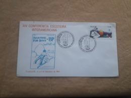Brésil Enveloppe XIV Conférence Internationale Du Scoutisme - Cartas