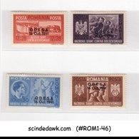 ROMANIA - 1941 SURCHARGED STAMPS SCOTT#B175-B178 5V MINT HINGED - 1918-1948 Ferdinand, Charles II & Michael